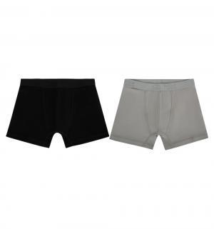 Комплект трусы-боксеры 2 шт , цвет: серый/черный Белый Слон