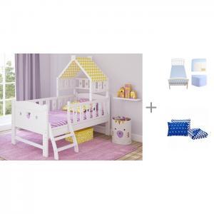 Подростковая кровать  Dommy 160х80 c простыней на резинке Solid и покрывалом Z-Kids с подушками Giovanni