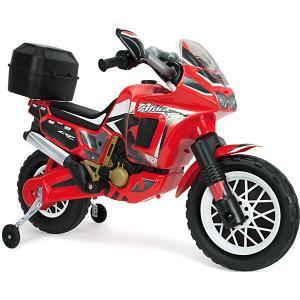 Мотобайк Injusa Honda Africa Twin, 6V, красный. Цвет: красный