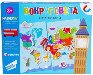 Игра детская настольная магнитная Вокруг света Dream makers