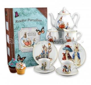 Детский чайный сервиз Кролик Питер и друзья в подарочном кофре-книжке на 2 персоны Reutter Porzellan