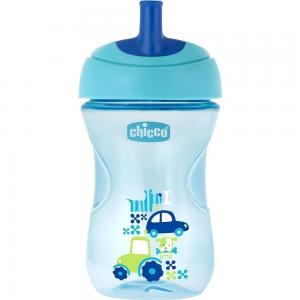 Чашка-поильник  Advanced Cup с трубочкой, 12 месяцев, цвет: голубой Chicco