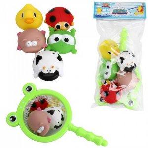 Игровой набор Веселое купание Сачок с 5 фигурками животных ABtoys