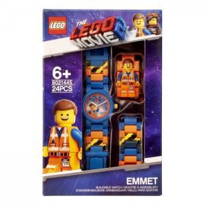 Часы  наручные аналоговые Movie 2 с минифигурой Emmet на ремешке Lego