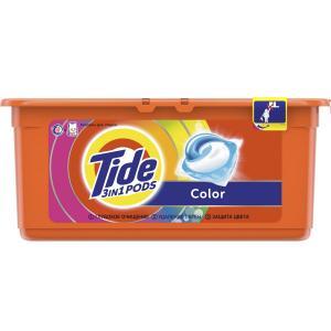 Капсулы для стирки  3 в 1 Pods цветного белья Color, 30х24.8 г Tide