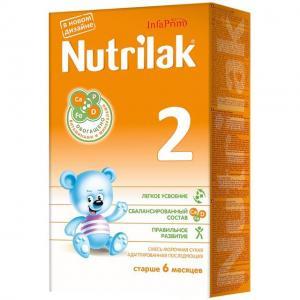 Молочная смесь Нутрилак 2 с 6 месяцев, 350 г Nutrilak