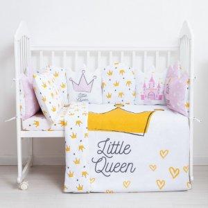 Бортик в кроватку  Little queen подушечки 10 шт. Крошка Я