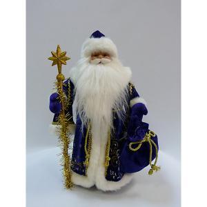 Дед Мороз в синей шубе, 60 см, полибеге MAG2000