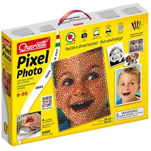 Пиксельная мозаика , Фото, 6400 деталей Quercetti
