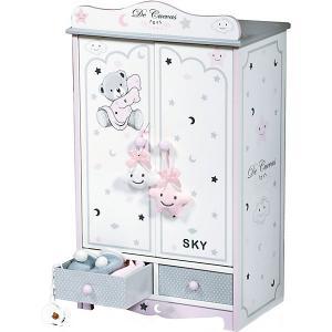 Гардеробный шкаф для кукол  Скай, 54 см DeCuevas. Цвет: серый/белый