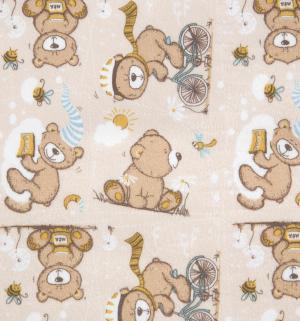 Пеленка непромокаемая  Медвежонок, 1 шт GlorYes