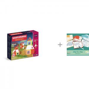 Конструктор  Build Up Set Магнитный 50 элементов и Djeco Игра настольная Графф друзья Magformers
