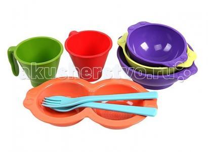 Набор детской посуды 8 предметов Uinlui