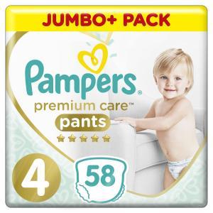 Подгузники-трусики  Premium Care Pants (9-15 кг) 58 шт. Pampers