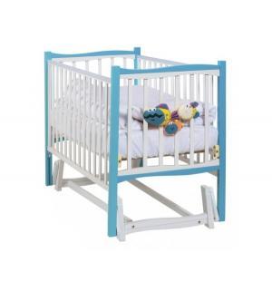 Кровать-маятник  Fiore, цвет: морская бирюза/белый Papaloni