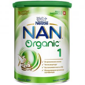 Молочная смесь  Organic 1 с рождения, 400 г Nan