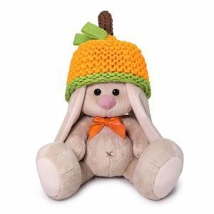 Мягкая игрушка  Зайка Ми в шапке-мандарин 15 см цвет: бежевый Budi Basa