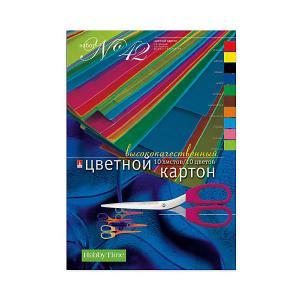 Набор цветного картона № 42  А4, 10 листов Альт