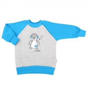 Джемпер  Pingwinek, цвет: голубой/серый Nicol