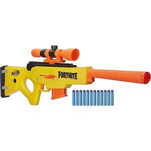 Бластер Nerf Fortnite BASR-L с 12 патронами Hasbro. Цвет: orange/gelb