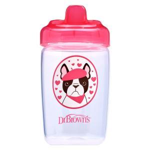 Чашка-поильник Dr.Browns с твердым носиком Собачка, 12 месяцев, цвет: розовый Dr.Brown's