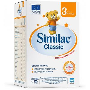 Молочная смесь  Classic 3, с 12 мес, 600 г Similac