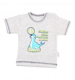 Футболка  Seal, цвет: серый Mamatti