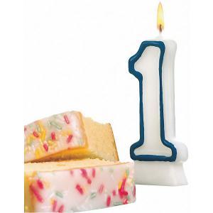 Свеча-цифра для торта  1 8,5 см, синяя Susy Card
