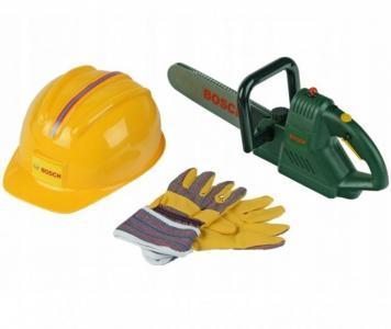 Игровой набор Bosch цепная пила, каска, перчатки Klein