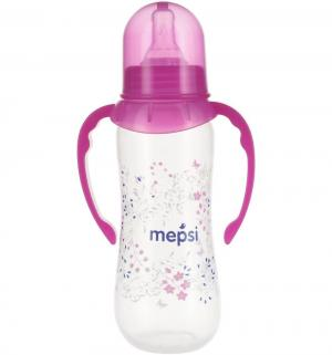 Бутылочка  С ручками полипропилен 4 мес, 250 мл, цвет: малиновый Mepsi