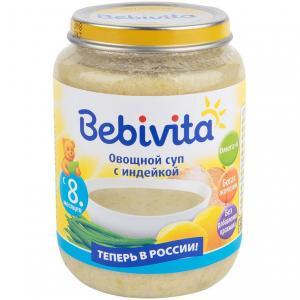 Суп  Овощной с индейкой, 190 г Bebivita