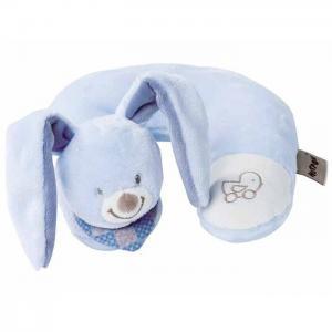 Игрушка мягкая Подголовник Neck pillow Alex & Bibiou Кролик Nattou