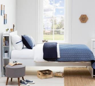 Комплект в кроватку  Покрывало и 2 декоративные подушки Denim 145x230 см Cilek