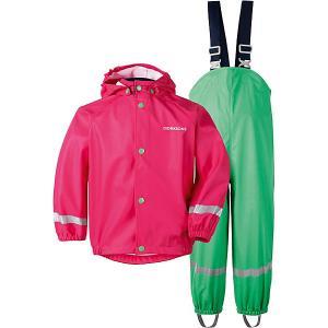 Комплект Didriksons Slaskeman: куртка и полукомбинезон. Цвет: фуксия