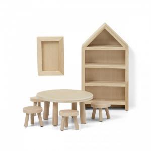 Набор деревянной мебели для домика Сделай сам Столовая Lundby
