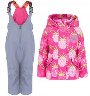 Комплект куртка/полукомбинезон , цвет: розовый/серый Stella