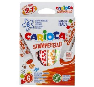 Фломастеры  Stamp Markers 6 цв. Carioca