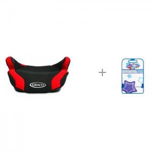 Бустер  Connext с защитной накидкой на сиденье (кикмат) SM/KMT-010 Смешарики Graco