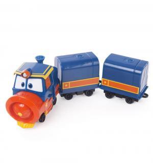 Паровозик  Виктор с двумя вагонами Robot Trains