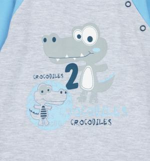 Комбинезон  Croc, цвет: голубой/серый Aga