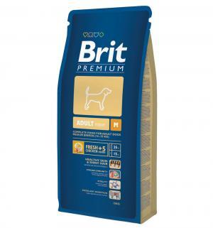 Сухой корм  Premium для взрослых собак средних пород, 18кг Brit