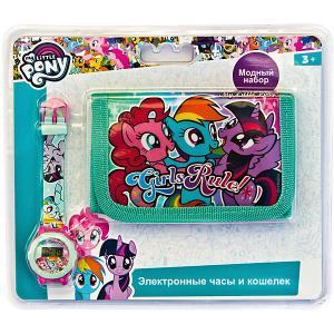 Набор Kids Time My Little Pony Часы и кошелёк Детское время. Цвет: разноцветный