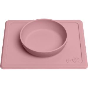 Тарелка с подставкой  Mini Bowl нежно-розовая Ezpz