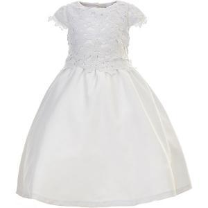 Платье  для девочки Gulliver. Цвет: белый