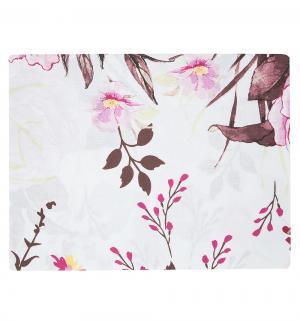 Комплект постельного белья  1.5 спальный/нав. 70х70, цвет: белый/розовый Василиса