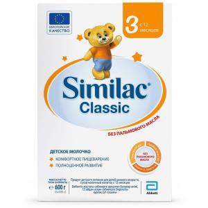 Детское молочко  Classic 3 с 12 месяцев, 600 г Similac