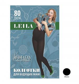 Колготки для беременных  80 den Leila nero, цвет: черный 40 Недель