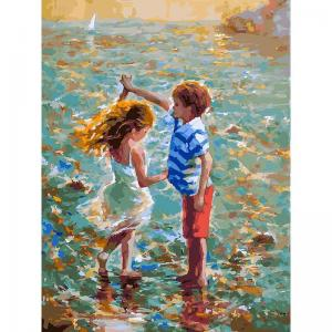Живопись на подрамнике  Танец воде Белоснежка