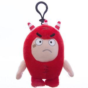 Мягкая игрушка-брелок  Фьюз, 12 см Oddbods. Цвет: красный