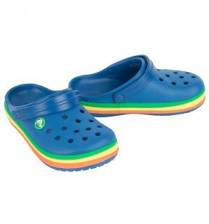 Сабо  CB Rainbow Band Clog K BlJ, цвет: синий Crocs